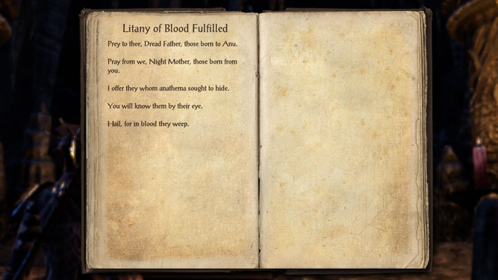 Litany Of Blood Fulfilled